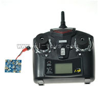 WLtoys-v999-19 Circuit board & 2.4GHZ Remote control WL V999 model wl toys V999 rc helicopter and V999 parts list Quadcopter