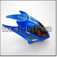 WLtoys S929 helicopter parts-01-Head Cover(blue) WLtoys S929 helicopter WL toys S929 rc helicopter and WLtoys S929 parts list