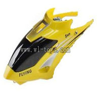 WLtoys S929 helicopter parts-02-Head Cover(yellow) WLtoys S929 helicopter WL toys S929 rc helicopter and WLtoys S929 parts list