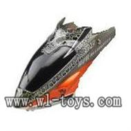 WL S939 helicopter parts-02-Head Cover(gray) WLtoys S939 RC helicopter WL toys S939 model WLtoysrc S939 parts