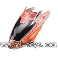 WL S939 helicopter parts-04-Head Cover(orange) WLtoys S939 RC helicopter WL toys S939 model WLtoysrc S939 parts