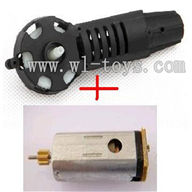 MJX-F649-parts-42 Tail cover unit(include tail gear & Tail cover and the tail motor,MJX F49 F649 rc helicopter parts