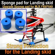 MJX F649 sponge pad-Strong protection for MJX F46 Landing skid,mjx F45 F645 RC helicopter Parts