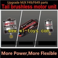 Upgrade MJX W6004 Tail brushless motor for MJX F49 F649 helicopter,mjx F45 F645 RC helicopter Parts,mjxrc toys helikopter Accessories