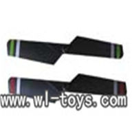 MJX F45 -38 Tail Blade(1pcs)(Color:Green,Red),Mjx F45 F645 RC helicopter Parts,mjxrc toys MJX F645 helikopter Accessories