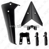 S36-Parts-04 Tail decoration(Black) SYMA S36 rc helicopter parts SYMA S 36 helikopter model Accessories
