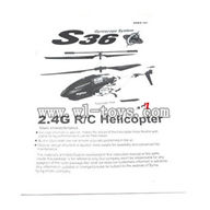 SYMA S36-Parts-38 English manual SYMA S36 rc helicopter parts SYMA S 36 helikopter Accessories symarc model
