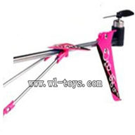 SYMA S107P-parts-22 Whole tail unit(Purple) SYMA S107P rc helicopter parts SYMA S 36 helikopter Accessories symarc model