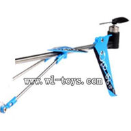 SYMA S107P-parts-23 Whole tail unit(Blue) SYMA S107P rc helicopter parts SYMA S 36 helikopter Accessories symarc model