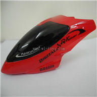 BR6608-parts-01 Head cover(Red) Borong BR6608 RC Helicopter Parts BR 6608 toys model helikopter Accessories