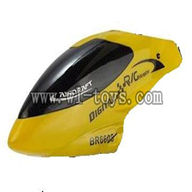 BR6608-parts-02 Head cover(Yellow) Borong BR6608 RC Helicopter Parts BR 6608 toys model helikopter Accessories