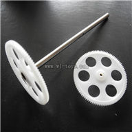 BR6608-parts-06 Upper amin gear with hollow pipe & Lower main gear BR6608 RC Helicopter Parts BR 6608 toys model helikopter Accessories