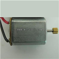 BR6608-parts-17 Main motor with long shaft and gear BORONG BR6608 RC Helicopter Parts BR 6608 toys model helikopter Accessories