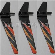 WL V911-16 Vertical wing(3pcs)-Orange WLtoys V911 WL V911-1 RC Helicopter Spare Parts WL Toys rc model