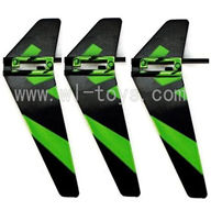WL V911-19 Vertical wing(3pcs)-Green WLtoys V911 WL V911-1 RC Helicopter Spare Parts WL Toys rc model