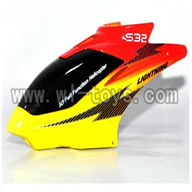 S39-parts-01 Head cover-(Red & Yellow & Black) SYMA S39 RC helicopter Spare Parts Syma TOYS model