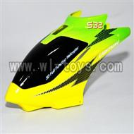 S39-parts-02 Head cover-(Green & Yellow & Black) SYMA S39 RC helicopter Spare Parts Syma TOYS model