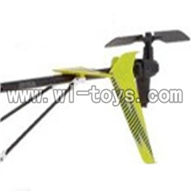 S39-parts-26 Whole tail unit-Green(Long tail pipe with horizontal and vertiall wing & Tail cover with tail motor and tail blad SYMA S39 RC helicopter Spare Parts Syma TOYS model