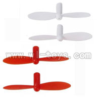 Wltoys V272-parts-11 Main blades(2x Red & 2X White) WLTOYS V272 Quadcopter UFO WL V272 rc helicopter Spare-Parts WL toys model mini