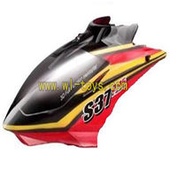 S37-parts-03 Head Cover(Black & Red) SYMA X37 helicopter Syma X37 rc helicopter parts SYMARC X37 TOYS model