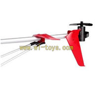 S37-parts-31 Whole tail unit-Red(Long tail pipe with Tail Decoration & Tail cover with tail motor and tail blade & Support pipe with fixtures) SYMA X37 helicopter Syma X37 rc helicopter parts SYMARC X37 TOYS model