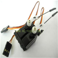 FX078-parts-27 SERVO with 2pcs Steering gear lever Feilun toys FX078 rc helicopter Spare parts FX 078 model Accessories