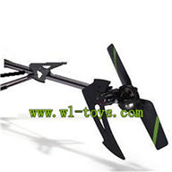 FX078-parts-41 Whole tail unit-Long tail pipe with horizontal and verticall wing & Tail cover with tail gear,tail motor and tail blade & Support pipe Feilun toys FX078 rc helicopter Spare parts