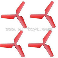 SYMA-X4-parts-04 Main Blades(4pcs-Red) SYMA X4 Quadrocopter SYMARC X4 TOYS model and Syma X4 rc helicopter parts