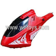SYMA-F4-parts-02 Head cover(Red) SYMA F4 rc helicopter Spare parts SYMA TOYS model F4 helikopter Accessories