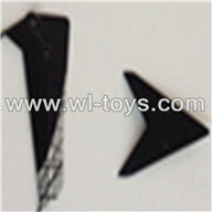 SYMA-F4-parts-06 Tail Decoration (black) SYMA F4 rc helicopter Spare parts SYMA TOYS model F4 helikopter Accessories