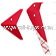 SYMA-F4-parts-07 Tail Decoration (red) SYMA F4 rc helicopter Spare parts SYMA TOYS model F4 helikopter Accessories
