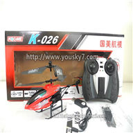Koome K026 RC helicopter and parts,Koome model K-026 toys helikopter