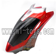 HTX Model H227-21-parts-02 Hover,Head cover(Red)) Can use for HTX H227-27,H227-23,H227-25,H227-26 RC Helicopter
