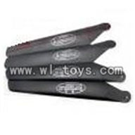 H227-21-parts-05 Main rotor blades(4pcs-2A+2B),Can use for HTX H227-23,H227-25,H227-26,H227-27 RC Helicopter