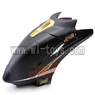 H227-24-parts-03 Hover,Head cover(Square shape black),Can use for HTX model toys H227-20,H227-22,H227-24 RC Helicopter
