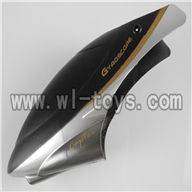 H227-24-parts-04 Hover,Head cover(Round shape black),Can use for HTX model toys H227-20,H227-22,H227-24 RC Helicopter