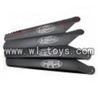 H227-20-parts-05 Main rotor blades(4pcs-2A+2B),Can use for HTX model toys H227-20,H227-22,H227-24 RC Helicopter