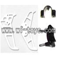 H227-20-parts-23 Tail Decoration(Horizontal and vertical wing& Fixture),Can use for HTX model toys H227-20,H227-22,H227-24 RC Helicopter