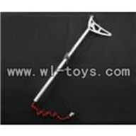 H227-20-parts-26 Tail unit(Tail pipe&tail motor&Tail cover&Tail Decoration21 Tail Decoration-Verticle&Horizontal wing&Fixture),Can use for HTX model toys H227-20,H227-22,H227-24 RC Helicopter