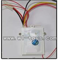 Double-horse-7000-05 Receiver boax with circuit board(Frequency:27HZ,40HZ,47HZ),shuang ma 7000 rc boat and dh 7000 parts