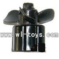 Double-horse-7004-09 Main motor with Drive shaft connections and fixtures,Can use for shuang ma 7008,dh 7004 rc boat parts