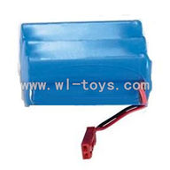 double horse 7009-parts-02 Battery with Red plug(7.2v 650mah)-The New version of Red JST jack,shuang ma 7009 rc boat and dh 7009 parts