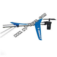 MJX-T56-parts-26 Whole tail unit(Blue)-(Long tail pipe with horizontal and verticall wing,fixtures,Tail cover with tail motor ,tail gear and tail blade& Support pipe) MJX T56/T656 RC helicopter parts MJX T656 toys model Accessories