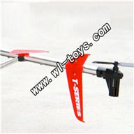 MJX-T56-parts-27 Whole tail unit(Red)-(Long tail pipe with horizontal and verticall wing,fixtures,Tail cover with tail motor ,tail gear and tail blade& Support pipe) MJX T56/T656 RC helicopter parts