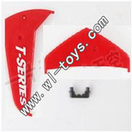 MJX-T56-parts-30 Horizontal wing & Verticall wing & Fixture-Red MJX T56/T656 RC helicopter parts MJX T656 toys model Accessories