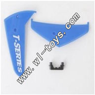 MJX-T57-parts-29 Horizontal wing & Verticall wing & Fixture-Blue MJX T57/T657 RC helicopter parts MJX T657 toys model Accessories