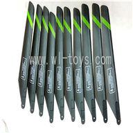 FeiLun FX037/FX059/FX078 parts Main blades(10pcs),FX078 rc helicopter Spare parts FX 078 toys model Accessories