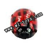 WL V939 helicopter parts-01-head cover-red WLtoys V939-2.4G-6 axis RC Helicopter model,WL toys V939 mini UFO Quadcopter