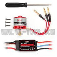 F-series MJX f46 helicopter parts-12 W6001 unit parts( Brushless motor set & ESC & Screw driver),MJX F646 toys rc model Accessories