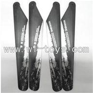 LianSheng toys model LS209 RC Helicopter parts,LS-209-parts-03 Main blades(4pcs-2A+2B)